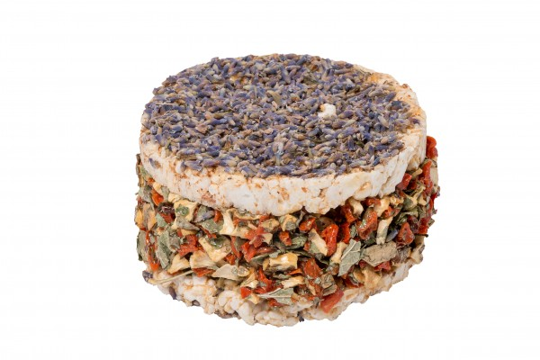Burger Lavendel und Gemüse